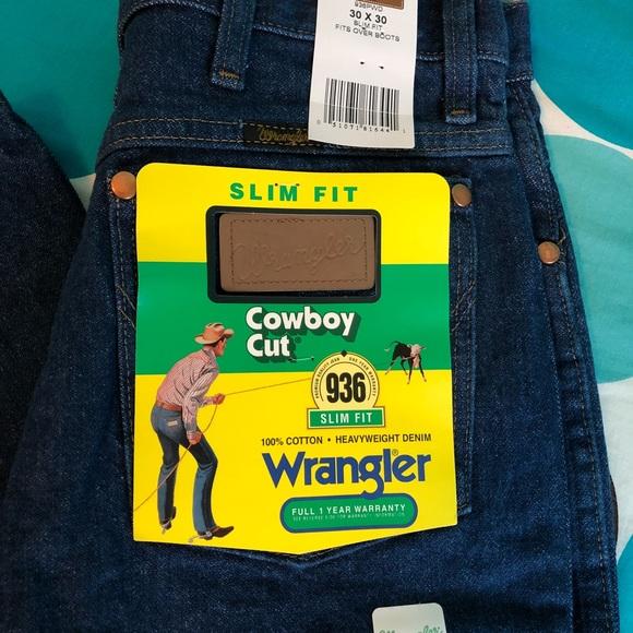 Wrangler Jeans Mens Wrangler Slim Fit Cowboy Cut Jeans Poshmark